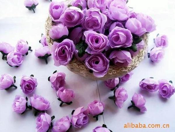 Picture of 20 Pcs/lot Romantic Fake Silk Rose Flower Wedding Decoration Event Party Engagement Decorative Flowers Home Decor Gift