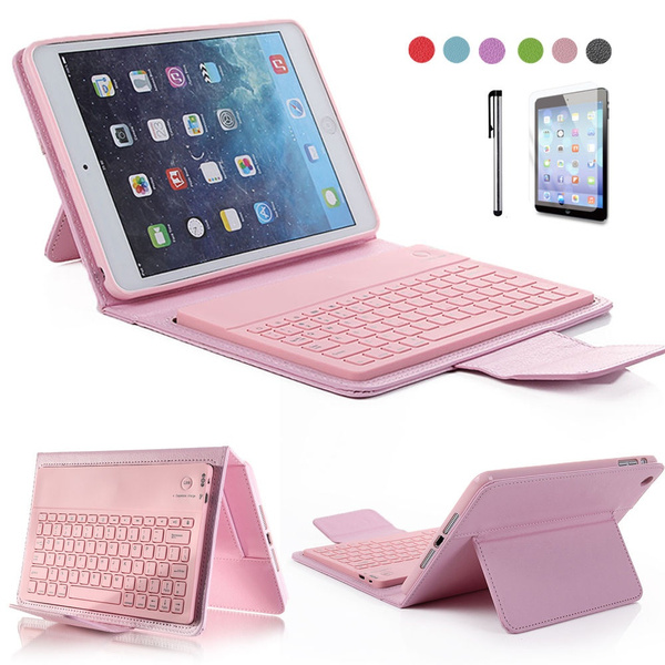 Picture of For Ipad Mini Pu Leather Stand Case Cover With Wireless Bluetooth Keyboard Ym-w431-j08