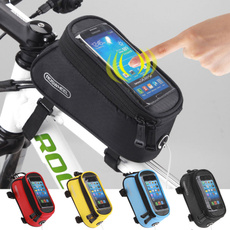 Cycling Bike Bicycle Frame Phone Bag Holder Pannier Mobile Phone Case Bag Pouch Cycling Tools