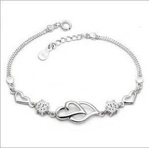Picture of New Jewelry 925 Sterling Silver Austrian Crystal Bracelets Bangles For Women