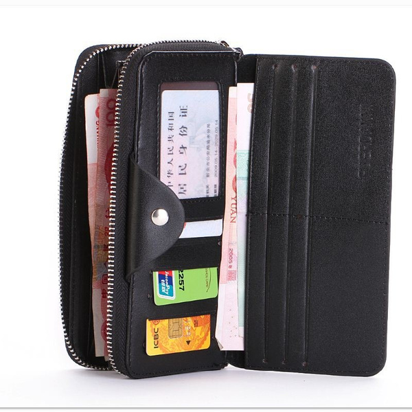 wish male ong business card holder mens leather wallets fashion men coin clutch purses wallets leather purses gift for men - Business Card Holder For Men