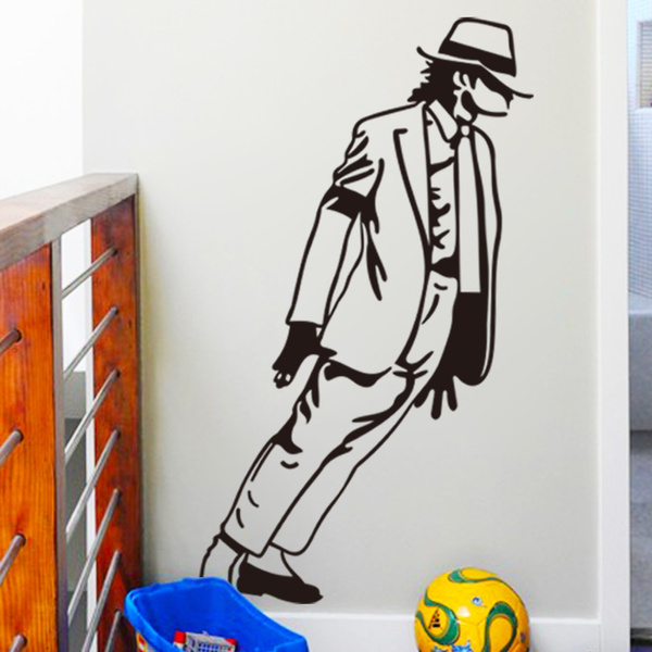 Wish Dancing Michael Jackson Wall Stickers Removable Vinyl Decor Decals Art Poster Diy Home