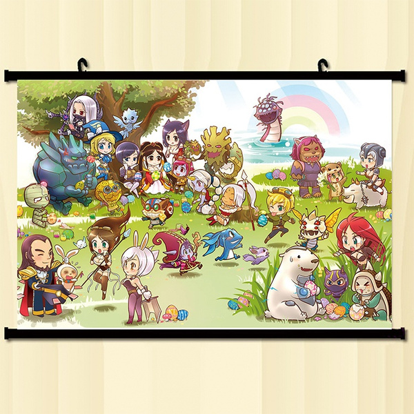 Wish | Home Decor LOL League of Legends Poster Wall Scroll