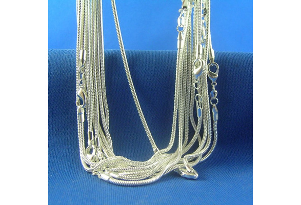 Wholesales 5pcs/lot 925 Sterling Silver Snake Chain Necklace (DIY Necklace)Size 16-30 inch