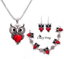 Pendant, crystal pendant, Jewelry, owl jewelry