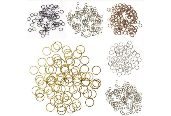 300 Pcs Silver/Gold Plated Open Metal Charm Jumping Rings Finding