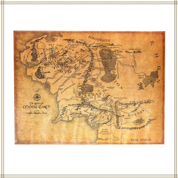 Middle Earth Map Large.Wish Large Map Of Middle Earth The Lord Of The Rings Map Poster