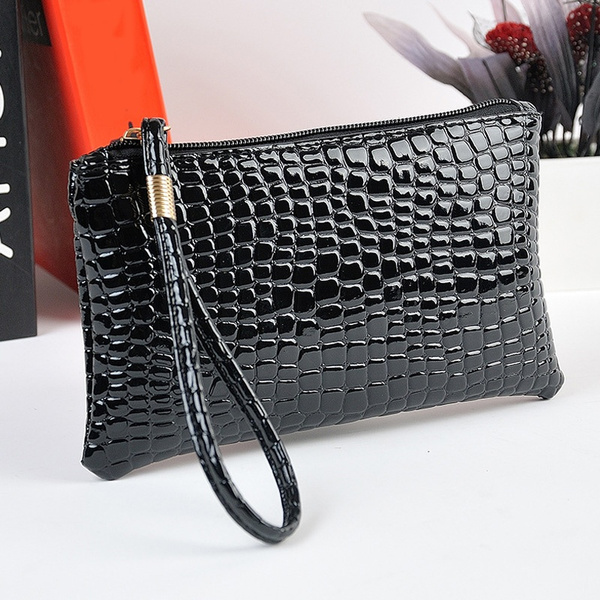 Picture of Womens Crocodile Pattern Purse Evening Handbag