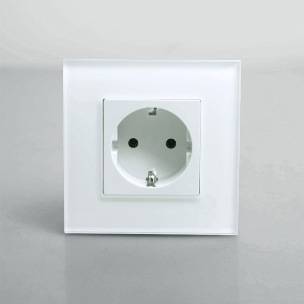 Wish | KOPOU Single EU Standard Power Outlet Socket, White Crystal ...
