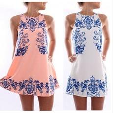 Summer, sleeveless, chiffon, dress slim tank women summer dresses