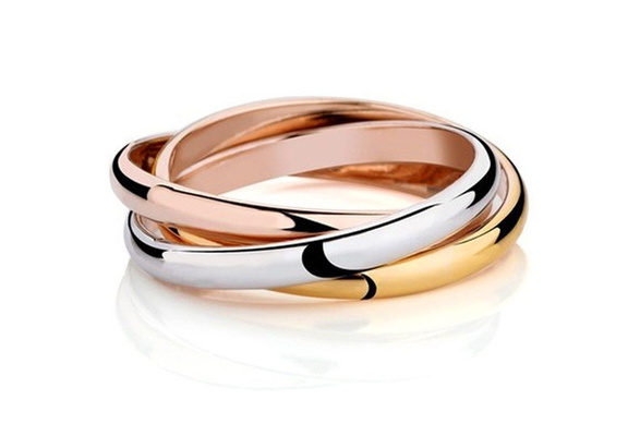 Elegant Party Wedding Rings Rose Gold Fine jewelry