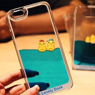 Picture of Fashion Cute Yellow Duck Swimming Iphone 5/5s Iphone 6iphone 6 Plus Iphone 6s/6s Plus Iphone 7 Iphone 7 Plus Case Iphone Cover.