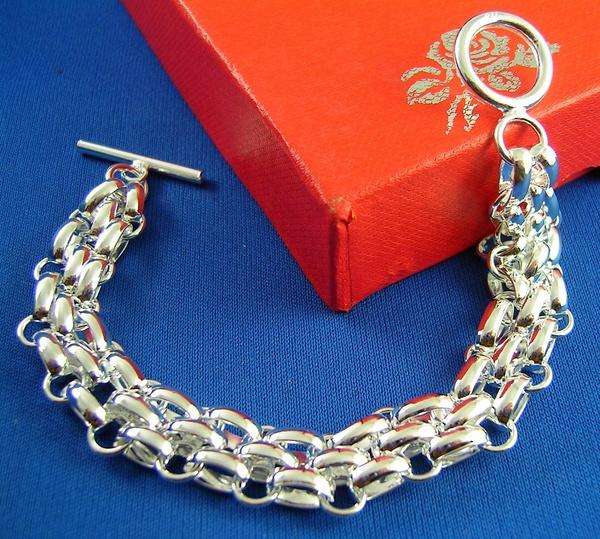Sterling, Fashion, sterling silver bangle bracelet, Chain bracelet