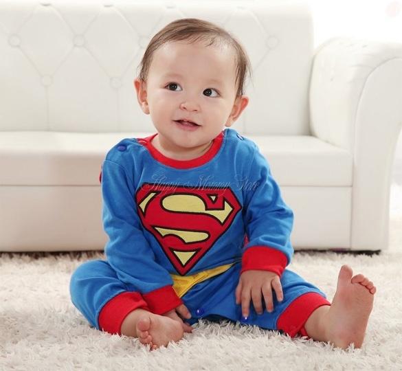 c5abcae6c Fashion Superman Suit Fancy Dress SuperHero Costume Jumpsuit for ...
