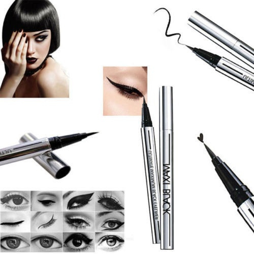 Picture of Maximum Black Waterproof Eyeliner Eye Liner Pencil Pen Make Up Beauty Portable
