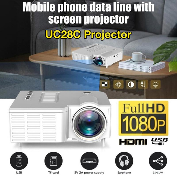 Picture of Uc28+ Portable Mini Projector Hd1080p Home Multimedia Led Mini Theater Projector
