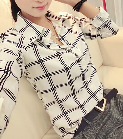 blouse, women Chiffon Blouse, Sleeve, Long Sleeve