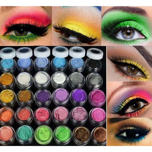 Picture of New Fashion 30 Colors Eye Shadow Powder Colorful Makeup Mineral Eyeshadow