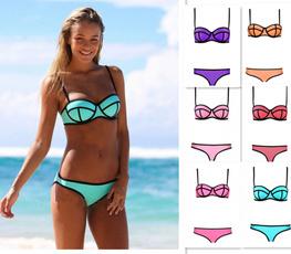 Sexy Women's Bandage Bikini Swimsuit Set Padded Push-up Bra Bathing Swimwear Summer Beach Bikini Set &WuXiao