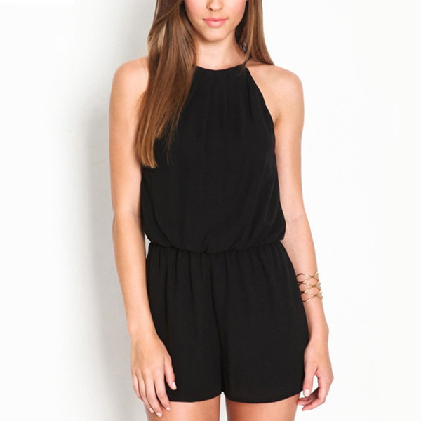 Picture of Balck Sexy Women Sleeveless Jumpsuits Rompers