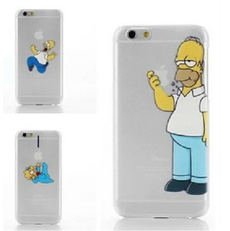 Creative The Simpsons Homer Bart hot funny cover Transparent grab logo harder cases For iphone6 4.7 inch