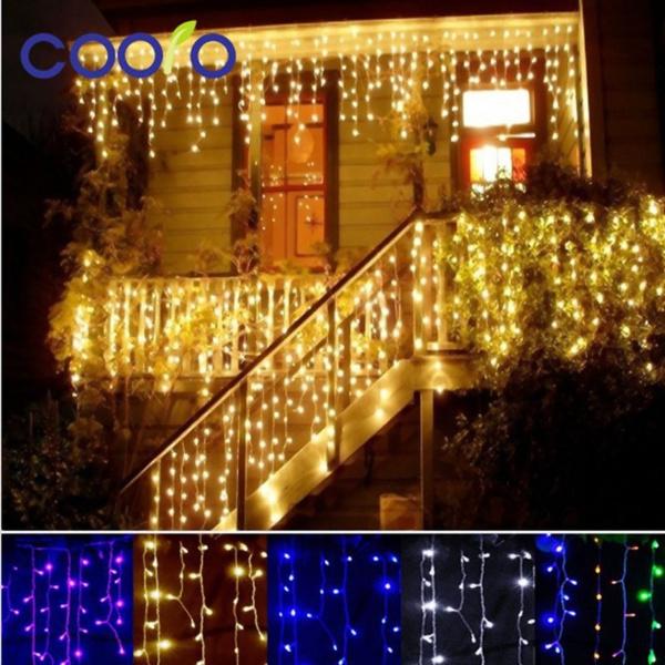 Picture of 10m 100 Led String Light 220v Eu Plug Wedding Garland Outdoor Rope Led Lamps
