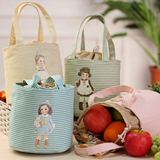 Home Fashion  Lunch Storage Case Thermal Insulated Box Tote Cooler Bag Bento Pouch Bag Blue Pink Green Yellow