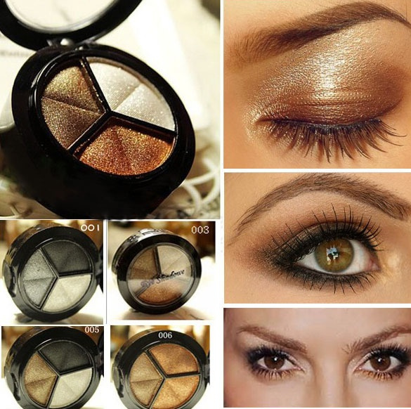 Picture of Smoky Cosmetic Set 3 Colors Professional Natural Matte Eyeshadow Makeup Eye Shadow Eye Shadow Glitter Wyf-618