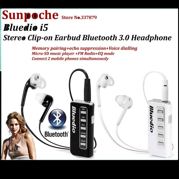 High Quality I5s Bluetooth Headset Sd Card Earphones Fm Radio Headphones Sports Headphone With Mic Handsfree For Iphone Samsung Wish