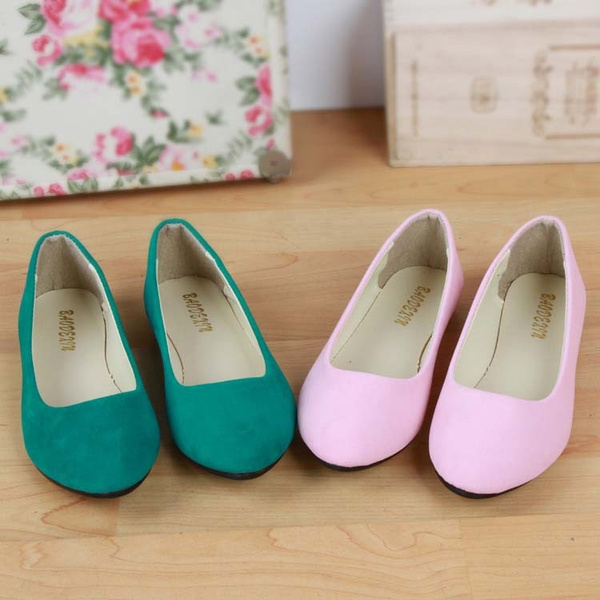 Picture of Plus Size Fashion Women Shoes Solid Candy Shoes Little Flat Shoes Casual Variety Comfortable Shoes Ballet Flats