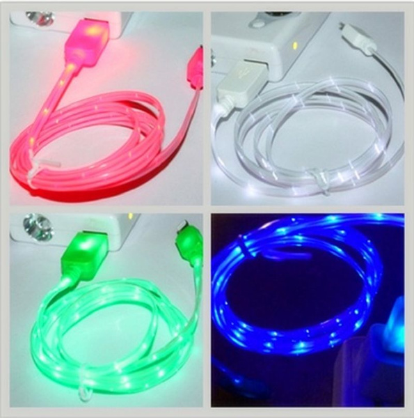 Apple LED Charger Light Up Charging Cable Luminescent Visible Current Flow Smart Charger & Sync Cable for Apple iPhone 44S55S66SAndroid   Wish