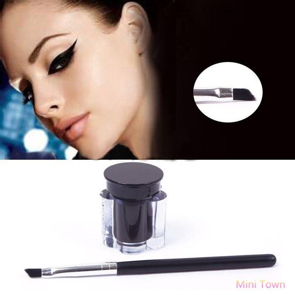 Picture of Pro Black Eye Liner Eyeliner Gel + Brush Makeup Cream Waterproof