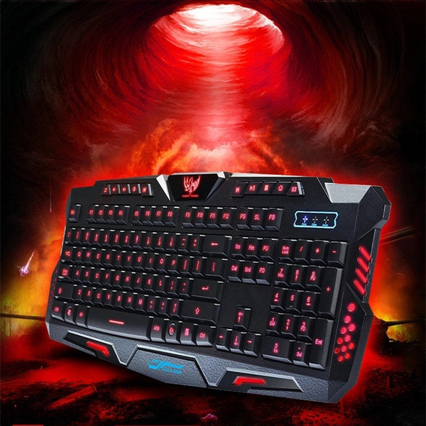 Picture of Hk-m200 Tri-color Backlit 19 Key No Red Mechanical Keyboard