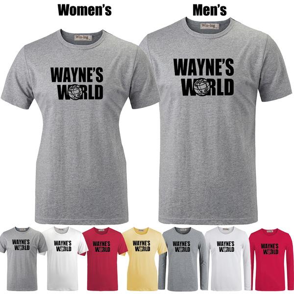 2c5c2dd9c7f Louboutin Wayne's World Quotes Graphic Long Sleeve Men's Boy's T-shirt  Graphic Tee Tops