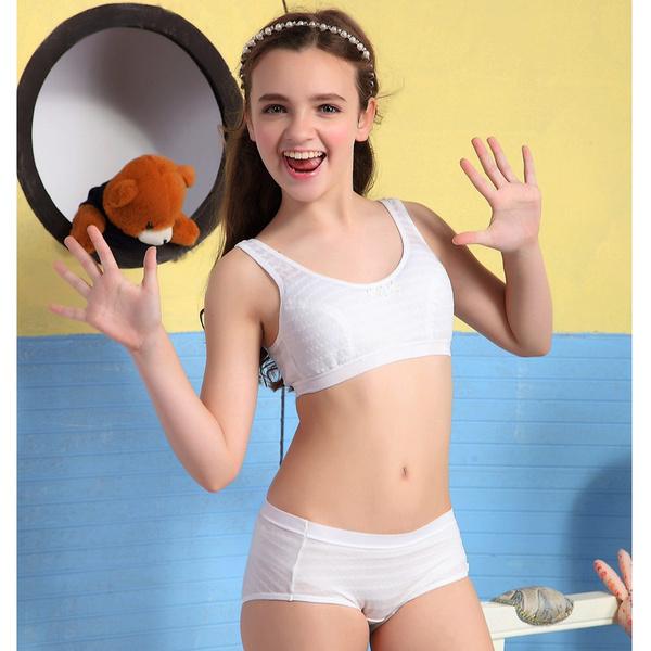 6b79e6891ead Wofee 2015 Puberty Girl Underwear Set Teenage Cotton Underwear For ...