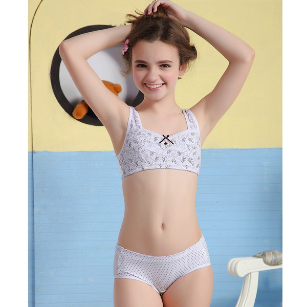 Wish | WoFee 2015 puberty girl bra and pants sets yong girls ...