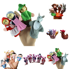 4PCS Little Red Riding Hood Finger Puppets Christmas Gifts Baby Educational Toy