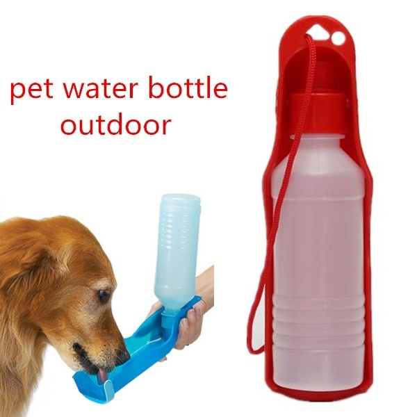 f801dbf57679 250ML Outdoor Portable Pet Dog Water Bottles Foldable Tank Drinking Design  Travelling Bowl Feeding Dispenser