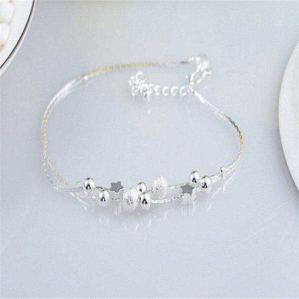 Picture of Fine Jewelry Pulseras 925 Silver Bracelet Fashion Star Bracelets For Women