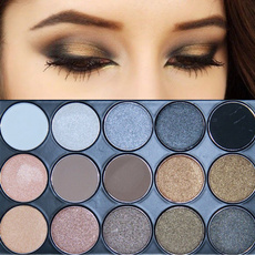 11 Colors Shimmer 4 Colors Matte Eye shadow Palette Earth Tone Eyeshadow