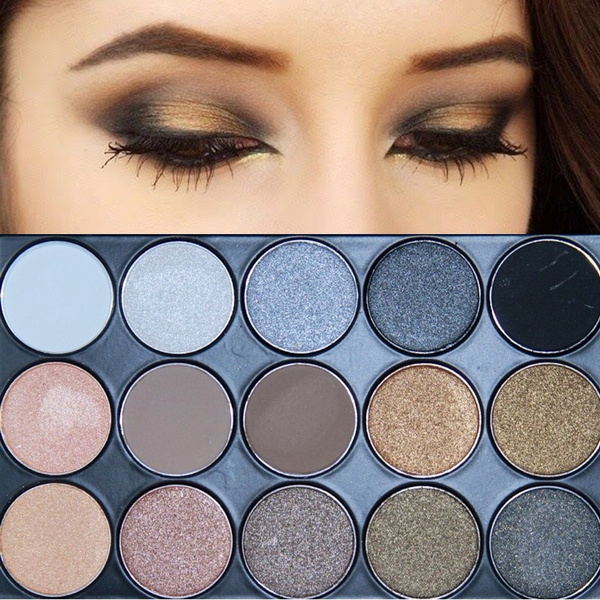 Picture of 11 Colors Shimmer 4 Colors Matte Eye Shadow Palette Earth Tone Eyeshadow Color Nude