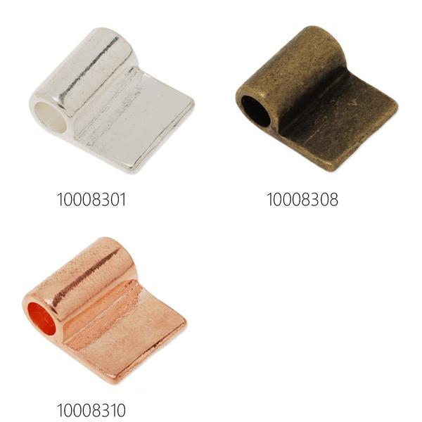 50pcs 17*15mm Glue on tube Bail for Dichroic Fused Glass Pendant Charm Pendants