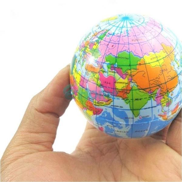 World Atlas Geography Map Earth Globe Stress Relief Bouncy Foam Ball Toy