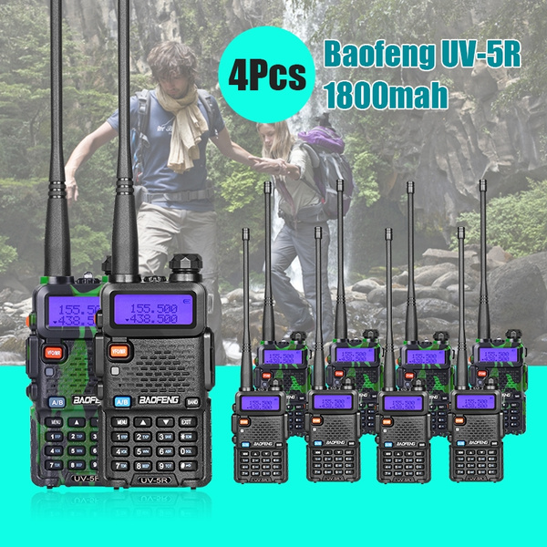 Picture of 5 Pack Baofeng Uv-5r 136-174/400-480 Mhz Dual-band Two Way Radio