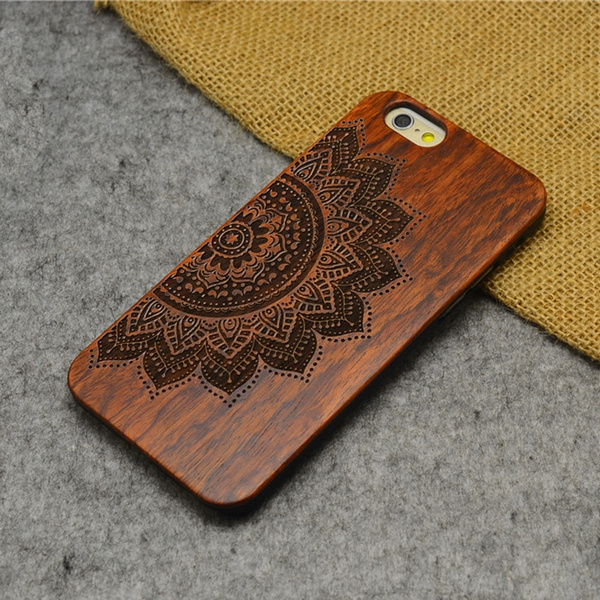 save off 8990a 378b8 Wooden iphone Wood Lucky Flower Carving Concavo Convex Hard Back Cover for  iPhone 6 plus,iPhone 6,iphone 5,iphone 5S(DreamTop iphone)