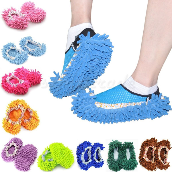 Picture of Dust Floor Cleaning Slippers Shoes Mop House Clean Shoe Cover Multifunction
