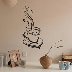 Coffee Removable Decal Art Vinyl Mural Home Room Decor Wall Stickers