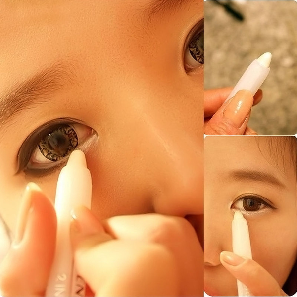 Picture of 1pc White Woman Glitter Creamy Eyeliner Eye Shadow Pencil Makeup Fashion