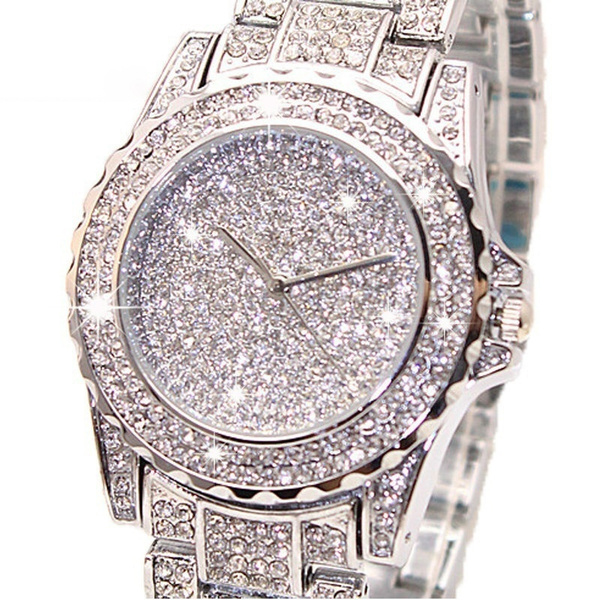 Picture of Diamond Quartz Watches For Women's Fashion Crystal Jewelry