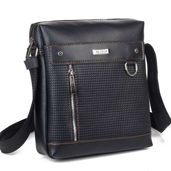 Picture of Business Man's Messenger Bags Men's Leather Crossbody Bags Men's Travel Fashion Shoulder Bags